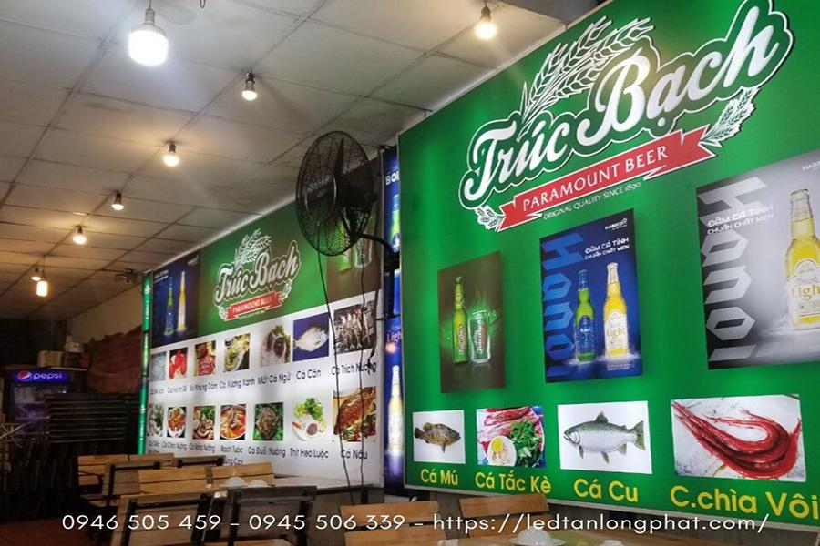 Bảng hiệu hộp đèn quảng cáo mà công ty Tân Long Phát đã thi công