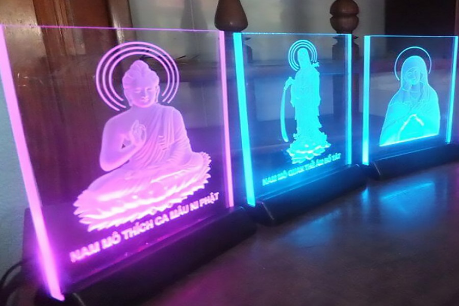 Như thế nào được gọi là tranh đèn LED mica?