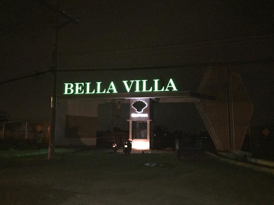 Công trình bảng hiệu chữ nổi inox 3D biệt thự Bella Trần Anh